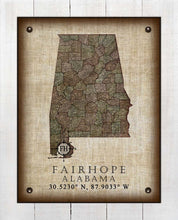 Load image into Gallery viewer, Fairhope Alabama Vintage Design - On 100% Natural Linen