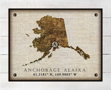 Load image into Gallery viewer, Anchorage Alaska Vintage Design - On 100% Natural Linen