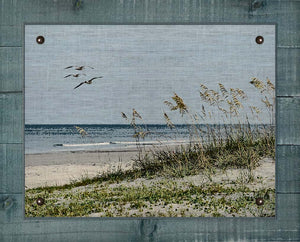Sea Oats And Dunes - On 100% Linen