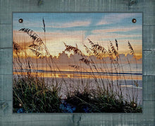 Load image into Gallery viewer, Sea Oats At Dawn - On 100% Natural Linen
