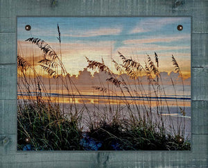 Sea Oats At Dawn - On 100% Natural Linen