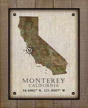 Load image into Gallery viewer, Monterey Vintage Design - On 100% Natural Linen