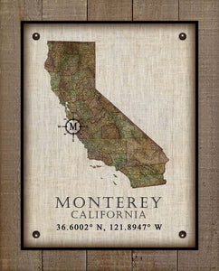 Monterey Vintage Design - On 100% Natural Linen