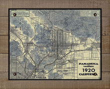 Load image into Gallery viewer, Vintage Pasadena California Map - On 100% Natural Linen