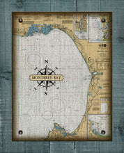 Load image into Gallery viewer, Monterey Bay Nautical Chart - On 100% Natural Linen