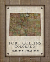 Load image into Gallery viewer, Fort Collins Colorado Vintage Design - On 100% Natural Linen