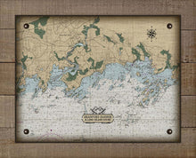 Load image into Gallery viewer, Branford CT. Nautical Chart - On 100% Natural Linen