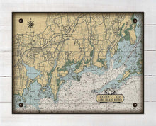 Load image into Gallery viewer, Darrien CT Nautical Chart On 100% Natural Linen