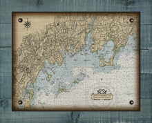 Load image into Gallery viewer, Groton CT Nautical Chart On 100% Natural Linen
