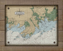Load image into Gallery viewer, Guilford CT Nautical Chart On 100% Natural Linen