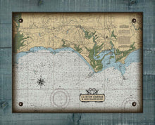Load image into Gallery viewer, Madison & Clinton CT Nautical Chart On 100% Natural Linen