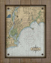 Load image into Gallery viewer, Milford CT Nautical Chart On 100% Natural Linen