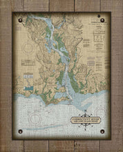 Load image into Gallery viewer, Old Saybrook, Old Lyme & Essex  CT  Nautical Chart -  On 100% Natural Linen