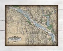 Load image into Gallery viewer, Ct. River (Haddam & Salmon River) Nautical Chart -  On 100% Natural Linen