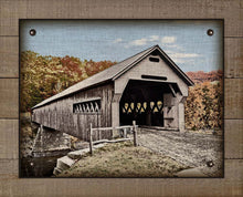 Load image into Gallery viewer, Covered Bridge - On 100% Natural Linen