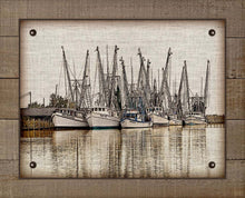 Load image into Gallery viewer, Shrimp Boasts Fleet 2  - On 100% Natural Linen