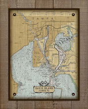 Load image into Gallery viewer, Davis Island Nautical Chart On 100% Natural Linen