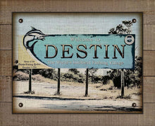 Load image into Gallery viewer, Destin Welcome Sign On 100% Linen
