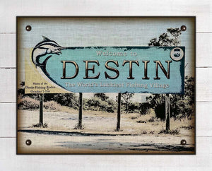 Destin Welcome Sign On 100% Linen