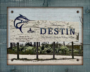 Destin Welcome Sign (2) On 100% Linen