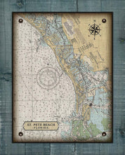 Load image into Gallery viewer, St Pete Beach Nautical Chart On 100% Linen