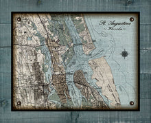 Load image into Gallery viewer, Vintage St Augustine Map (Horizontal) On 100% Natural Linen
