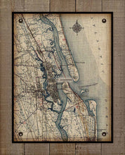 Load image into Gallery viewer, Vintage St Augustine Map On 100% Natural Linen