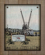 Load image into Gallery viewer, Fernandina Beach Shrimp Boat On 100% Linen