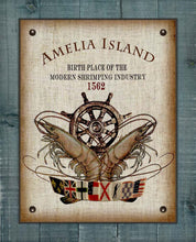 Load image into Gallery viewer, Amelia Island Birth Place Of The Shrimping Industry Design On 100% Linen
