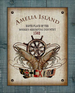 Amelia Island Birth Place Of The Shrimping Industry Design On 100% Linen