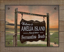 Load image into Gallery viewer, Amelia Island Welcome Sign On 100% Linen