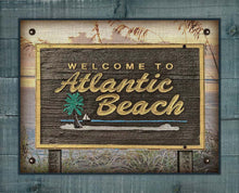 Load image into Gallery viewer, Atlantic Beach Welcome Sign - On 100% Natural Linen