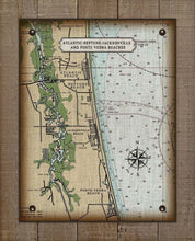 Load image into Gallery viewer, Atlantic, Neptune, Jacksonville and Ponte Vedra Nautical Chart  On 100% Natural Linen