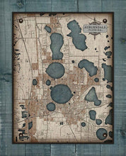 Load image into Gallery viewer, Aubendale Map On 100% Natural Linen
