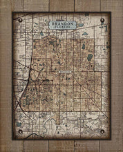 Load image into Gallery viewer, Brandon Florida Map On 100% Linen