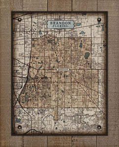 Brandon Florida Map On 100% Linen