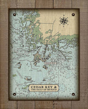 Load image into Gallery viewer, Cedar Key Nautical Chart On 100% Natural Linen