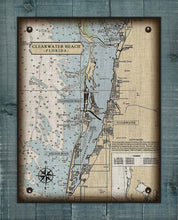 Load image into Gallery viewer, Clearwater Florida Nautical Chart On 100% Natural Linen