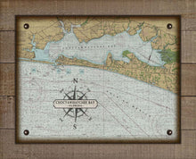 Load image into Gallery viewer, Destin & Choctawhatchee Bay Nautical Chart On 100% Natural Linen