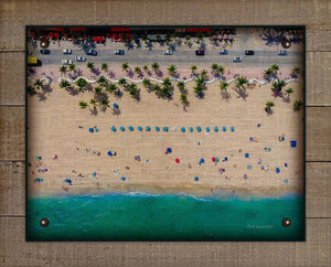 Beach Aerial View On 100% Linen