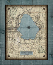 Load image into Gallery viewer, Georges Lake Map - On 100% Natural Linen