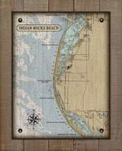 Load image into Gallery viewer, Indian Rocks Beach Nautical Chart On 100% Natural Linen