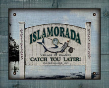 Load image into Gallery viewer, Islamorada Welcome Sign On 100% Linen