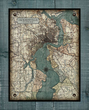 Load image into Gallery viewer, St Johns River - Jacksonville  - Vintage Map On 100% Natural Linen