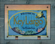 Load image into Gallery viewer, Key Largo Welcome Sign On 100% Linen