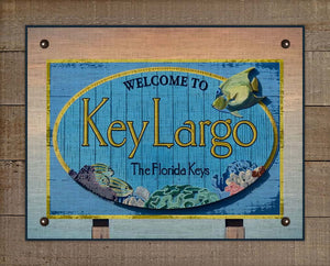 Key Largo Welcome Sign On 100% Linen