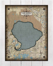 Load image into Gallery viewer, Lake Apopka Map On 100% Linen