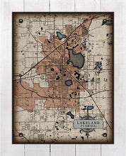 Load image into Gallery viewer, Plant City Florida Map On 100% Natural Linen
