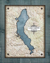 Load image into Gallery viewer, Lake Tarpon Map On 100% Linen