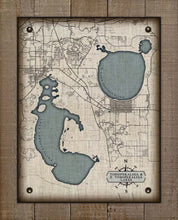 Load image into Gallery viewer, Lake Tohopekaliga Map On 100% Linen